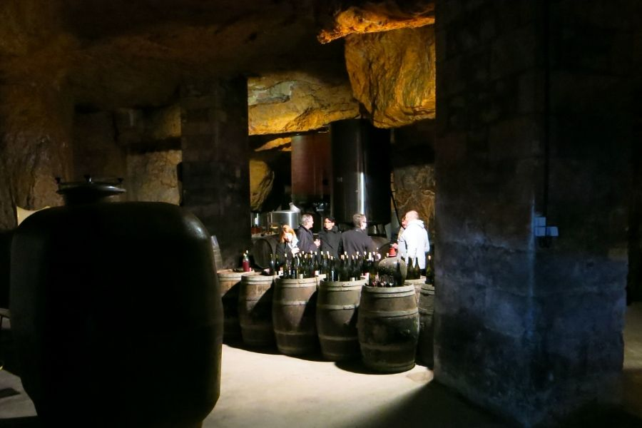 Bourgueil - The cellar of Domaine de la Chevalerie @Malcolm Boyd