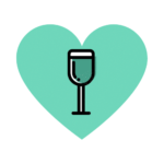 Wine glass in heart - Divine Loire - The reference website for Loire Valley wines