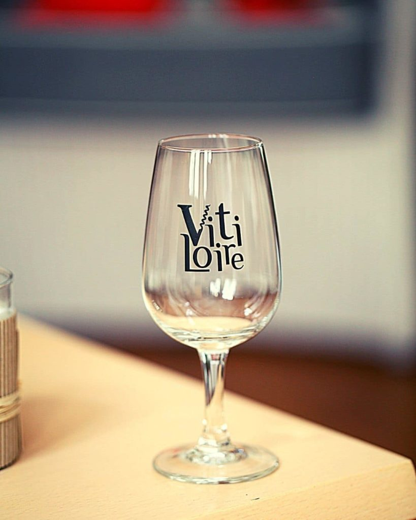 Loire valley wine festival official tasting glass