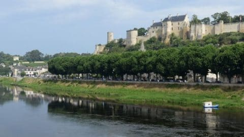 Wine tasting in Chinon - Fortress seen from the Vienne