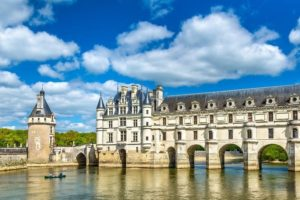 The Chenonceau castle, on the river Cher