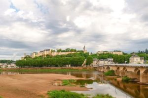 Chinon: the royal fortress seen from the Vienne river