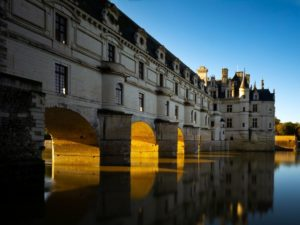 The Château de Chenonceau and its five arches spanning the river